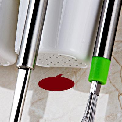 Decopatent Zelfklevende keuken wandrek voorkeukengerei - Hangend zwevend keukenrek voorzien van 3 opbergbakken en 4 ophang haken - Wandplank voor bestek en keuken accesoires - Muur / Wand Bevestiging - Montage zonder Boren en Schroeven -Decopatent®