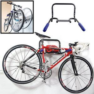 Decopatent Muur Ophangsysteem voor 2 Fietsen & Inklapbaar - Met legplank voor Helm - Ophang systeem fiets - Houder muur - Wandmontage -Fiets ophangen aan muur - Ophangbeugel fiets voor Wand montage -Decopatent®