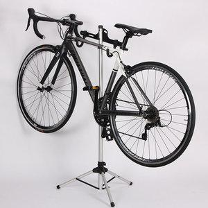 Decopatent Staande Reparatie Fiets Standaard -Fiets Reparatie / Onderhoud montagestandaards - In hoogte verstelbaar & Arm instelbaar van 0 - 30° Graden -Fiets montage reparatie standaard - Voor Racefiets MTB Mountainbike fietsen - Decopatent®