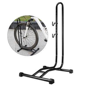 Decopatent PRO Fietsrek om je Fiets Horizontaal in te stallen - Fiets Etalage Display Standaard - Universeel Fietsenrek - Fietsenstalling - Fietsrek voor 1 Fiets -Voor Racefiets MTB Mountainbike Electrische fietsen- Decopatent®