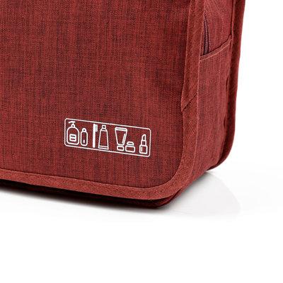 Decopatent Ophangbare Toilettas met Haak - Reis Toilet tas - Travel bag Organizer voor Vakantie /Kamperen & Reizen – Hangende Make up tas - Cosmetica Etui Tasje - Reistas Mannen en Vrouwen – Kleur ZWART - Decopatent®