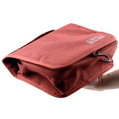 Decopatent Ophangbare Toilettas met Haak - Reis Toilet tas - Travel bag Organizer voor Vakantie /Kamperen & Reizen – Hangende Make up tas - Cosmetica Etui Tasje - Reistas Mannen en Vrouwen – Kleur GRIJS - Decopatent®