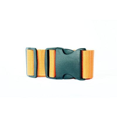 Decopatent Universele stevige Kofferriem voor uw Koffer - Bagageriem - Kofferband - Kofferspanband - Luggage Belt koffer riem - Luggage Strap voor Koffers / Handbagage / Briefkoffers etc. - Lengte verstelbaar tot 180 cm- Kleur: Oranje - Decopatent®