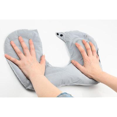 Decopatent Comfortabel Reiskussen Nekkussen - Automatisch in te stellen op hardheid - Reiskussentje Auto-deflatable - Slaapkussen - Nek kussen - Travel Pillow - Opblaasbaar nekkussens voor in het Vliegtuig / Trein / Bus / Auto etc. - Decopatent®