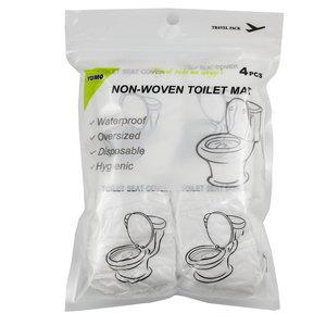 Decopatent SET van 4 STUKS Hygienische Toiletbril Cover voor op Reis - WC Bril Covers - WC Papier voor over de WC Bril - Wegwerp Wc bril hoes - Geschikt voor op Vakantie of Reis - Comfortabel & Veilig naar het toilet -Decopatent®