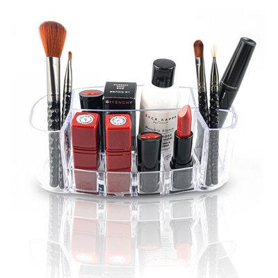 Decopatent Make up Organizer met 8 Vakken – Make-up Organizer Transparant - Sieraden Makeup Cosmetica Opbergsysteem - Display Houder voorLippenstift / Nagellak / Brushes / Visagie - Make up kwasten / Sieraden etc. - Decopatent®