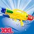 Decopatent XL Waterpistool - Super soaker waterpistool voor jongens - Jumbo waterkanon - Dubbel Shots supersoaker water pistool voor kinderen - Waterspeelgoed Watergeweer - Water gun met groot water reservoir - Afm 63.5x10x26 Cm - 1.8 Liter - GEEL - Decopatent®