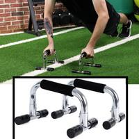 Decopatent Push up bars - Set van 2 stuks - Stevige opdruksteunen voor push ups - Hoge stabiliteit - Foam handvatten voor extra grip - Zilver - Decopatent®