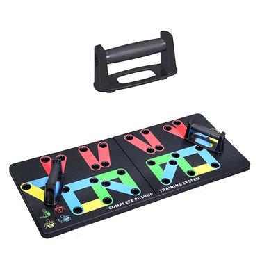 Decopatent PRO XL Push up bord met push up bars - XL Stevig opdrukbord - 14-in-1 thuis fitness - Borstspiertrainer / rugspiertrainer / armspieren (triceps) / schouderspieren trainen met push ups - Luxe push up board met kleuren - Eenvoudig trainen - Decopatent®