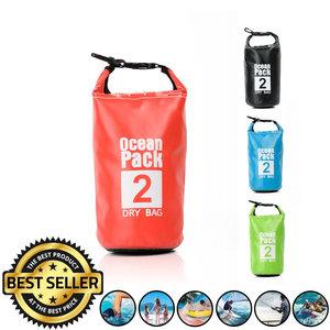 Decopatent Waterdichte Tas Ocean Pack 2L - Waterproof Dry Bag Sack - Droogtas 100% Waterdicht - Survival Outdoor Drybag Rugzak - Survival Bag plunjezak - Outdoor Tas - Reistas - Boottas - Zeiltas - Drybags 2 Liter - Kleur: ROOD - Decopatent®