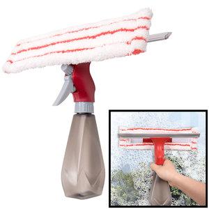 Decopatent Dubbelzijdige Raamwisser / Raamtrekker met Spray functie - Raam wisser / trekker voor glazen ramen of Douche - Window Cleaner - Ramen wassen en Zemen -Ruitenreiniger - Ramenwasser - Ramenwisser - Ramen wassen zonder strepen - Decopatent®