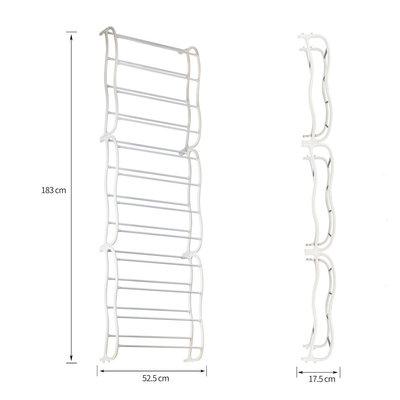 Decopatent Hangend Schoenenrek 12 Laags voor 36 paar Schoenen - Hangende Schoenenkastvoor aan de deur of in kast - Organizer voor schoenen opbergen - Schoenenrek / Schoenenkast Opbergsysteem- Metaal - Schoenenrek - Kleur Wit -Decopatent®