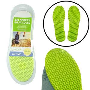 Decopatent Comfortabele Gel SPORT Inlegzooltjes voor Indoor & Outdoor Sport - Inlegzooltjes voor tijdens het Sporten - Sport schoenen zooltjes / Inlegzolen - Sport Active Inlegzool geschikt voor Maat: 40 tm 44 - Heren / Dames - Decopatent®