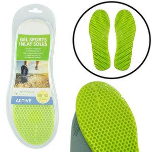 Decopatent Comfortabele Gel SPORT Inlegzooltjes voor Indoor & Outdoor Sport - Inlegzooltjes voor tijdens het Sporten - Sport schoenen zooltjes / Inlegzolen - Sport Active Inlegzool geschikt voor Maat: 35 tm 41 - Heren / Dames - Decopatent®