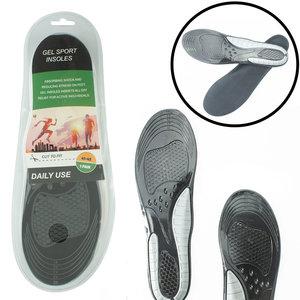 Decopatent Comfortabele Gel SPORT Daily Use Inlegzooltjes voor Indoor & Outdoor Sport - Inlegzooltjes voor tijdens het Sporten - Sport schoenen zooltjes / Inlegzolen - Sport Inlegzool geschikt voor Maat: 41 tm 45 - Heren / Dames - Decopatent®