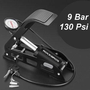 Decopatent PRO Luxe Voetpomp - Voetpomp met Enkele Cilinder en Manometer - Voet pomp met drukmeter voor het opblazen van Auto Autobanden / Fietsenbanden / Motor band / Voetballen / Luchtbed - Fietspomp - 9 bar/130 Psi - Decopatent®