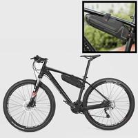 Decopatent PRO Fiets frametas voor onder het fietsframe - Waterbestendige frame Fietstas - Frametas Racefiets / Fiets / Koersfiets / Mountainbike / MTB fietsen / Electrische fiets / E-Bike- Regenbestendige Fiets Frametas - Zwart - Decopatent®