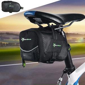 Decopatent PRO Waterbestendige Fiets Zadeltas - Zadeltas Racefiets / Fiets / Koersfiets / Mountainbike / MTB fietsen / Wielrennen - Professionele regenbestendige Zadeltas - Racefiets zadeltas / Fietstas - Zadeltasjes - Koersfiets Zadel Tas - Zwart - Decopatent®