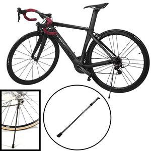 """Decopatent PRO Fietsstandaard Mountainbike / Mtb fiets standaard 24""""- 28"""" Inch - Fietsstandaard Enkel 35.5 cm - Zijstandaard Fiets Universeel - Quick Release Mountainbike standaard - Eenvoudige montage - Carbon Steel Kickstand - Decopatent®"""