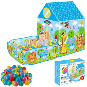 Decopatent Ballenbak met Speeltent - Incl 50 Stuks Ballenbak Ballen - Baby - Peuter - Speeltent voor kinderen - Ballentent Popup