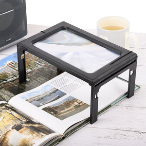 Decopatent Tafel Loep - Vergrootglas met LED verlichting - Loep 2.5x - Vergrootglas Lezen - Voor Slechtziende - 24 x 16 x 11.5 Cm