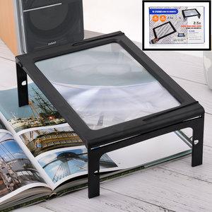 Decopatent Tafel Loep - Vergrootglas met LED verlichting - Loep 2.5x - Vergrootglas Lezen - Voor Slechtziende - 28 x 21 x 10.6 Cm