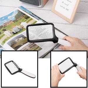 Decopatent Hand Loep LED verlichting - 2x Vergroting - Vergrootglas slechtziende - Handloep - Inklapbaar Lees licht - Magnifier