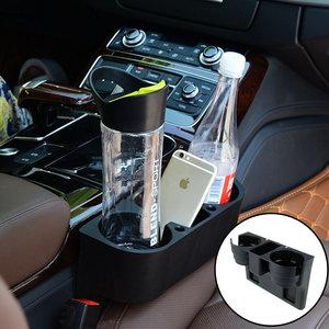 Decopatent Autostoel Organizer - Voor tussen Auto stoel / console - Bekerhouder & Telefoonhouder - Opbergvakken - Auto organiser