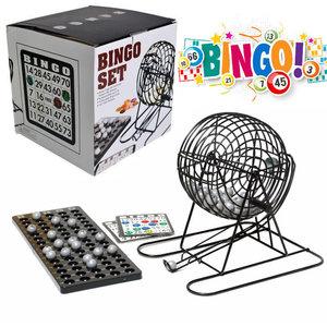 Decopatent Bingo Spel - Bingomolen - Bingoballen - Bingo kaarten - Fiches - Spelbord - Bingo molen - Metaal - Lotto Kinderspel