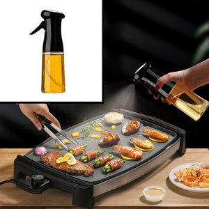 Decopatent Olijfolie Sprayer - Oliefles met Verstuiver - Afvallen - Voor Gezond Bakken en Koken - Kook Bakspray - 210ML - Zwart