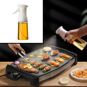 Decopatent Olijfolie Sprayer - Oliefles met Verstuiver - Afvallen - Voor Gezond Bakken en Koken - Kook Bakspray - 210ML - Wit