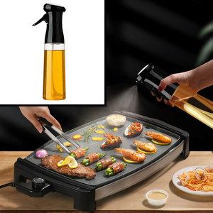 Decopatent Olijfolie Sprayer - Oliefles met Verstuiver - Afvallen - Voor Gezond Bakken en Koken - Kook Bakspray - 320ML - Zwart