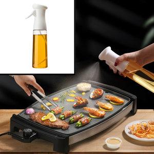 Decopatent Olijfolie Sprayer - Oliefles met Verstuiver - Afvallen - Voor Gezond Bakken en Koken - Kook Bakspray - 320ML - Wit