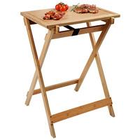 Kesper Grillmeister - Inklapbare Bijzettafel - FSC®  Hout - Bijzettafel voor in Huis of BBQ - Barbecue opklapbaar tafel - Afm 60x45x79 Cm