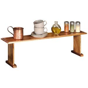 Kesper Keukenrek staand - FSC® Acacia Hout - 1 Etages - Smal keukenrekje voor op aanrecht - Kruidenrek - 1 Laags Opbergrek - 74x15x22 Cm