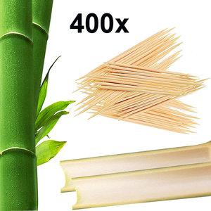 Kesper 400 Stuks - FSC® Berken houten Tandenstokers - Dubbelzijdige Tandenstokers hout - Tandestoker Dun 65 MM - Voordeelverpakking