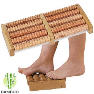 Decopatent Decopatent® Dubbele voetroller voetmassage apparaat - Betere Bloedsomloop in 2 Voeten - Bamboe - Voet massage Voetroller 2 voeten