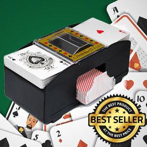 Decopatent Decopatent® Automatische kaartenschudmachine voor speelkaarten - Kaartenschudder op batterijen - Poker - Blackjack - Card Shuffer