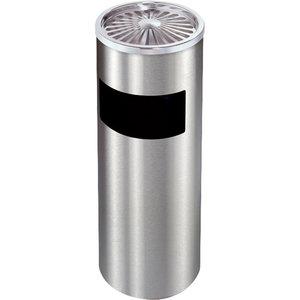 Decopatent Decopatent® Staande Asbak met RVS Afvalbak - Asbak Voor Buiten - Vloerasbak - Buitenasbak Groot - Rookpaal - Asbakken - 25x25x61