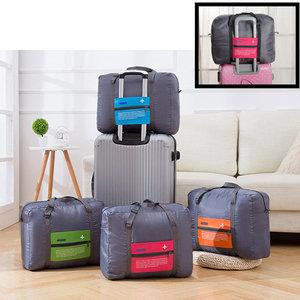 Decopatent Decopatent® Reistas Flightbag - Handbagage koffer reis tas - Travelbag - Organizer Opvouwbaar - Tas voor aan je koffer - Rose