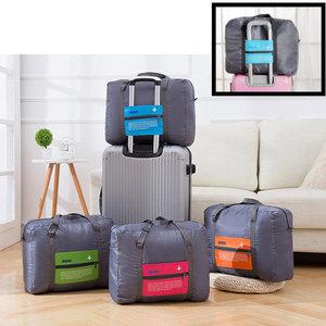 Decopatent Decopatent® Reistas Flightbag - Handbagage koffer reis tas - Travelbag - Organizer Opvouwbaar - Tas voor aan je koffer - Blauw