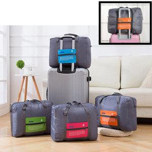 Decopatent Decopatent® Reistas Flightbag - Handbagage koffer reis tas - Travelbag - Organizer Opvouwbaar - Tas voor aan je koffer - Oranje