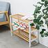 Decopatent Decopatent® Schoenenrek voor 9 paar schoenen - Schoenen Rek bamboe hout met 3 etages - Opbergrek - badkamerrek - 70 x 26 x 55 Cmv