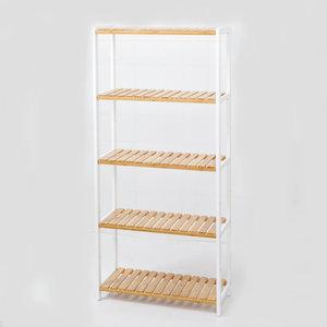 Decopatent Decopatent® Schoenenrek voor 20 paar schoenen - Schoenen Rek bamboe hout met 5 etages - Opbergrek - badkamerrek - 60 x 25 x 132 Cm