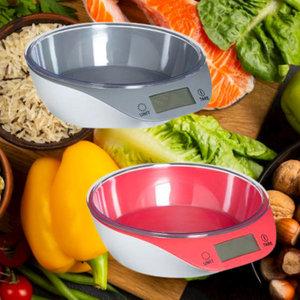 Decopatent Decopatent® Keukenweegschaal digitaal met Kom - Weegschaal keuken digitaal - Verwijderbare PVC Kom - Incl batterij - 5Gr tot 5Kg