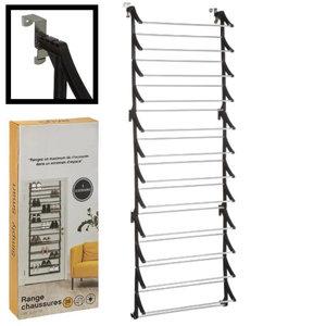 Decopatent Decopatent® Hangend Schoenenrek 12 Laags voor 36 paar Schoenen - Hangende Schoenenkast voor aan de deur - Schoenenrek Metaal