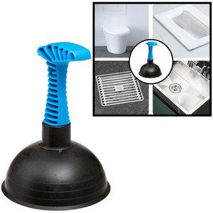 Decopatent Decopatent® Krachtige Ontstopper met Zuignap - Gootsteenontstopper - Ontstoppingspomp Gootsteen - Handmatige Plopper pomp
