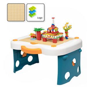 Decopatent Decopatent® - Kinder Blokkentafel - Bouwtafel - Kindertafel - Watertafel - Zandtafel - Tekentafel - Geschikt voor Lego® Bouwstenen