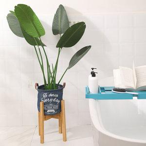 Decopatent Decopatent® Planten Standaard voor Binnen - Bamboe houten - Plant Houder - Krukje en Tafel voor Bloem Potten tot 15.5Ø Cm.