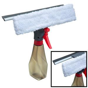 Decopatent Decopatent® PRO Dubbelzijdige Raamwisser - Raamtrekker met Spray functie - Voor glazen ramen of Douche - Ramen wassen en Zemen